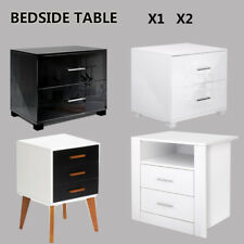 Bedside Table Cabinet Lamp Side Nightstand Unit  High Gloss/ Matt Home Furniture