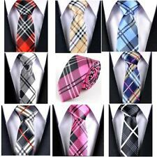 5cm Mens/Teens Thin Wedding Formal Tie Groom Necktie Skinny Tie Checks Slim Tie