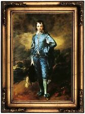 Gainsborough The Blue Boy Wood Framed Canvas Print Repro 12x18