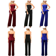 Women's Fashion Hot Loose Casual Solid Color Bra Tops Sexy Jumpsuits Rompers