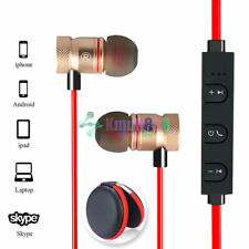 Red -KM56 Magnetic Bluetooth Handsfree Headset Earphone For Cell Phone HuaWei