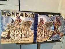 IRON MAIDEN SOMEWHERE BACK IN TIME~NM/NM- 2x PICTURE DISCS~INNER~NWOBHM~METAL