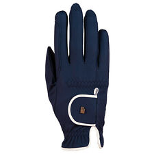 New Roeckl Lona Riding Gloves-Navy/White - Various Sizes