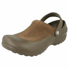 LADIES WOMENS CROCS TROIKA CHOCOLATE SLINGBACK CASUAL SLIP ON CLOGS