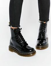 DR Martens 1460 W BLACK 11821011 SMOOTH PATENT LAMPER boots Amphibious
