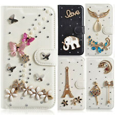 Crystal Diamond Leather Bling Phone Cases Luxury Phone Skin Cover For Samsung