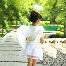 Kid Adult Angel Wings Fancy Fairy Feather Dress Cosplay Party Halloween Costume