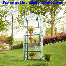 Portable Greenhouse Walk In Green House Outdoor Plant Gardening PVC Cover