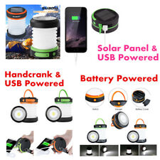 Portable Camping LED Lantern USB/Solar/Handcrank/BatteryPowered Outdoor SOS Lamp