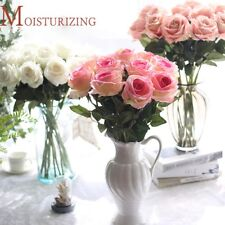 1pc Flower Artificial Home Decor Silk Fake Rose Floral Wedding Party Bouquet Set