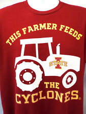 IOWA STATE T-SHIRT this Farmer Feeds The Cyclones (L) -NEW!
