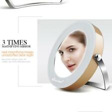 360 Rotate Make Up Magnifying Mirror with Light Cosmetic Make Up Mirror Stand