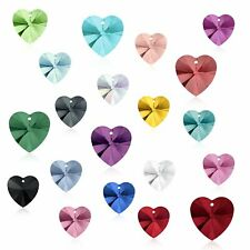 10.3 x 10mm (Choose Color) Genuine Swarovski Pendant Heart 6228 Rhinestone Bead