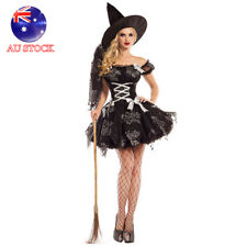 AU 2017 New Silver Sparkle Wicked Witch Costume Halloween Party Fancy Dress up