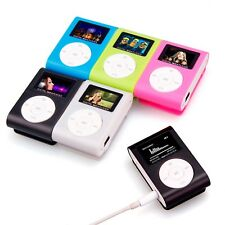 MP3 Player USB Clip Mini LCD Screen Support 32GB Micro SD TF Card