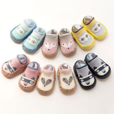 Newborn Baby Girl Boy Socks Anti-slip Cotton Socks Slipper Shoes Prewalker 0-18M
