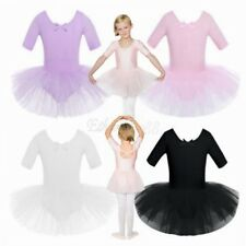 Girl Gymnastics Ballet Dress Kid Leotard Tutu Skirt Dance Ballerina Costume 2-14