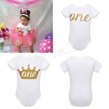 Baby Girls Boys First Birthday Outfit Infant One Year Old Party Romper Bodysuit