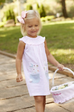 Mud Pie E7 Easter Spring Baby Toddler Girl Bunny Pocket Dress 1142190
