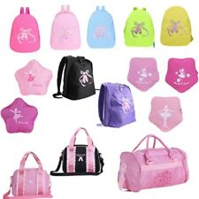 Kids Girl Ballet Dance Backpack School Toe Shoes Embroidered Shoulder Travel Bag
