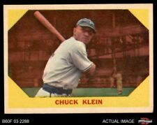 1960 Fleer #30 Chuck Klein Phillies EX