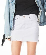 One Teaspoon Jeans White Skirt 26 28 30 Distressed Mini 2020 High Waist NWT