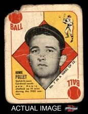 1951 Topps Red Back #7 Howie Pollet -  Cardinals POOR