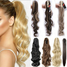 AU Lady Clip In Ponytail Pony Tail Hair Extensions Claw On Hair Piece curly wavy