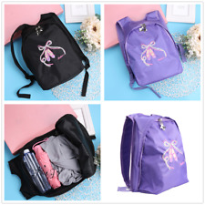 Kid Girls Ballet Dance Backpack School Travel Embroidered Shoulder Bags Gym