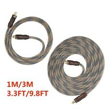 3.3ft/9.8ft Digital Toslink Optical Audio Cable 24k Gold Plated SPDIF OD6.0 W1Q6