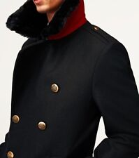 ZARA MAN AW 2018 MILITARY COAT WITH FAUX FUR COLLAR BLACK S-XL REF. 6390/636