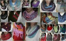CHOOSE your hand Knitted Cowl or Scarf & Capelet tweed looks furry