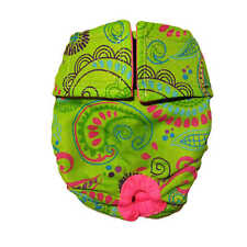 Dog Diapers - Made in USA - Lime Paisley Washable Dog Diaper Dog Nappies for ...