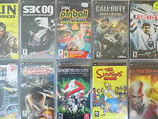 Sony PSP Games - Various Titles - Original and Complete