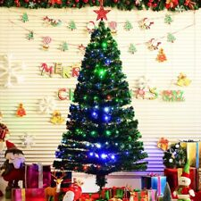 4-5-6-7FT Fibre Optic Christmas Tree Green Xmas Tree and Multicoloured LED Light