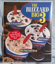 Dairy Queen Promotional Window Decal Blizzard Big 3 dq2