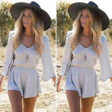 US Stock Womens Ladies Summer Playsuit Bodycon Party Jumpsuit Romper Trousers