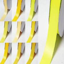 """by the 5 YARDS double sided satin ribbon 1-1/4"""" / 32mm yellow-orange"""