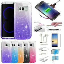 9 x Case Wireless Charger Accessory Bundle For Samsung Galaxy S7 Edge S8+ Note 8