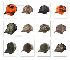 New 2018! Outdoor Cap Platinum Performance,Oil Stained Trucker, Frayed Camo Cap