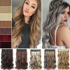"""17""""-30"""" One Piece Women Clip in Full Head Hair Extensions Ombre Blonde Brown FN2"""