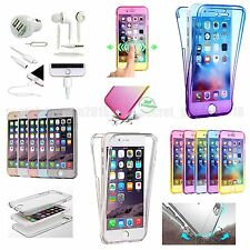 7 x Full Body Clear TPU Case Cover Earphones For iPhone X 8/8 Plus 6 6S 7 7 Plus