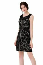 UP Ultrapink Missy Womens Chic Designer Shift Dress Patched Lace Contrast Lining
