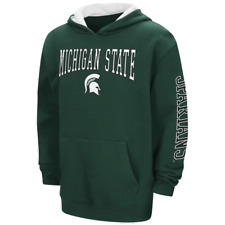 Michigan State Spartans Youth NCAA Zone Pullover Hoody - Green
