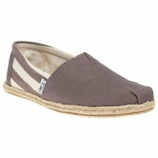 Womens Toms Gray White University Canvas Shoes Slip On