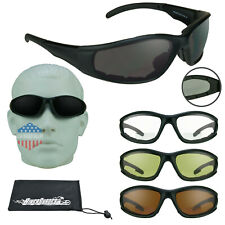 Motorcycle Bifocal Safety Reader Sunglasses Large Men Foam Padded Z87 1.5 to 3.0