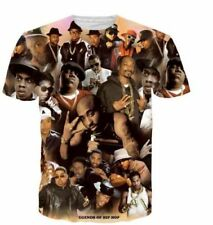Tupac Biggie Casual Graphic Tee Star Show Rap HIP HOP Funny 3D Print T-Shirt CO