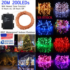 20M 200LED Battery Copper Wire String Light LED Fairy Lights Waterproof Holiday