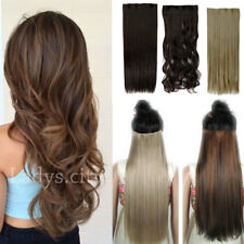 US Real Thick 5Clips Clip In Hair Extensions 1Pcs New Natural As Human Hair TD8