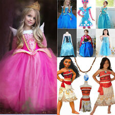 Princess Aurora Anna Elsa Moana Costume Halloween Party Cosplay Fancy Dresses AU